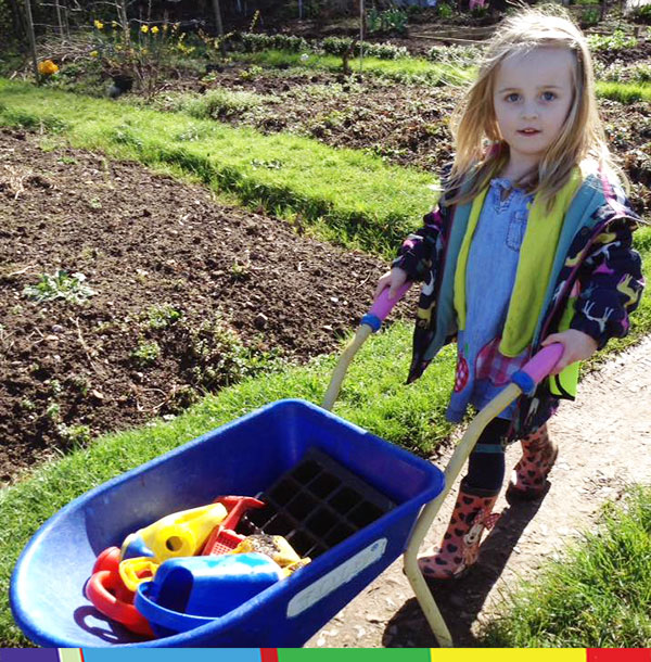 At the allotment