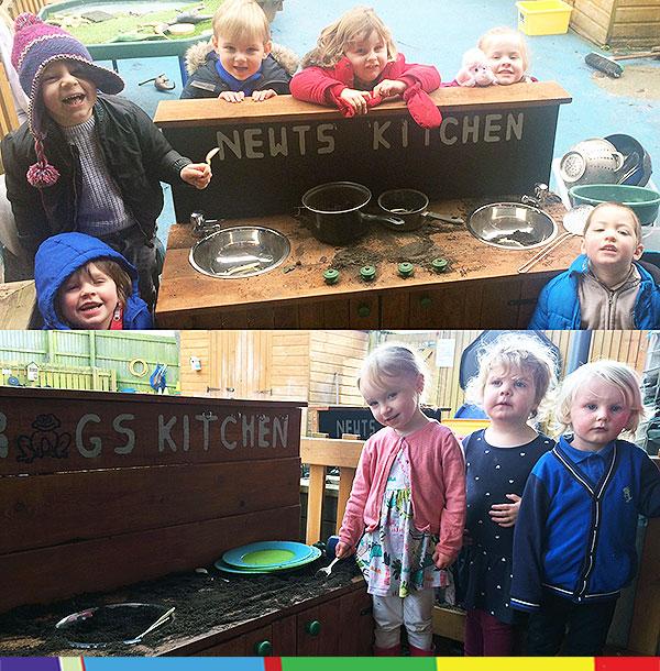 The mud kitchens